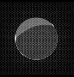 Glass round shape vector