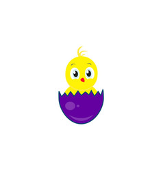 Happy easter an egg icon of chicken vector