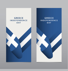 Happy greece independence day celebration vector