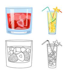 Liquor and restaurant icon vector
