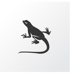 Lizard icon symbol premium quality isolated gecko vector
