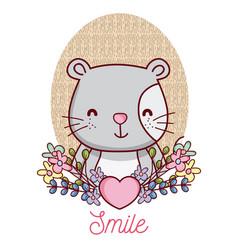 lovely cat cartoon vector image