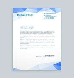 low poly letterhead design vector image