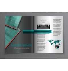 Magazine layout vector image