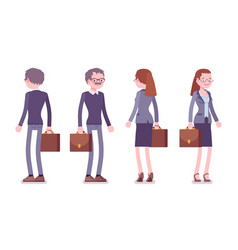 male and female teacher standing vector image