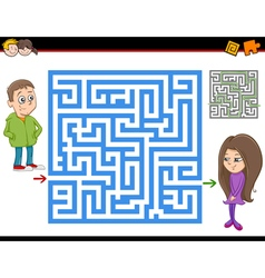 maze or labyrinth activity game vector image