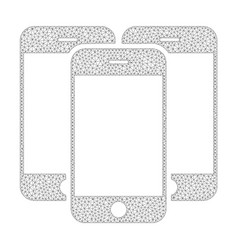 Mesh smartphones icon vector