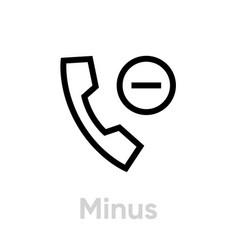 minus call icon editable line vector image