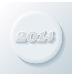 New Year Paper Icon vector image