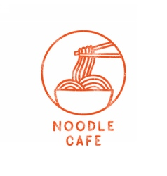 Noodle cafe logotype vector