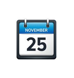 November 25 calendar icon vector