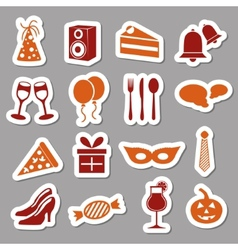 Party stickers vector