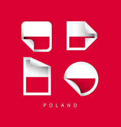 poland label flags template design vector image