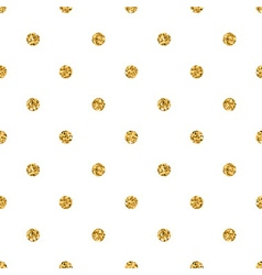 Polka dot small gold 1 white vector