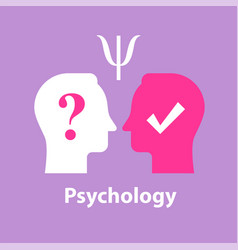 Psychological test psychoanalysis concept vector