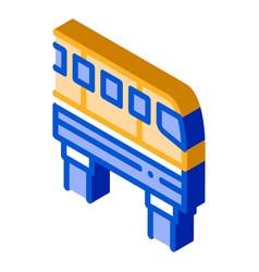 Public transport monorail isometric icon vector