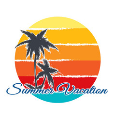 retro poster summer vacation vector image