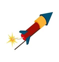 Rocket dynamite explode spark vector