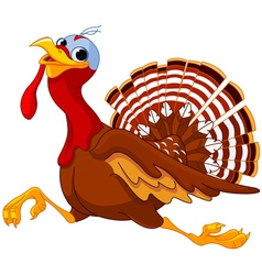 Running Cartoon Turkey vector image