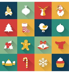set christmas and new year objects vector image