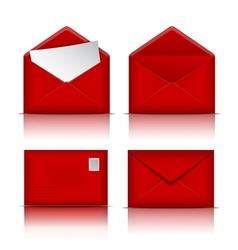 Set of Red envelopes vector