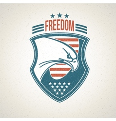 Shield logo with an American eagle symbol vector image