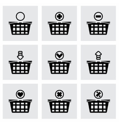 Shopping cart icon set vector image