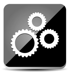 Sleek gear icon vector