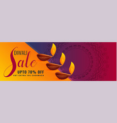 Stylish hindu diwali festival sale and discount vector