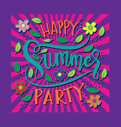 summer party card summer background vector image