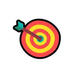 target with arrow cartoon color vector image