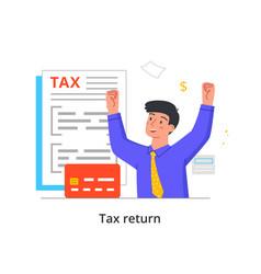 Tax return concept vector