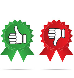 thumbs up and thumbs down on different backgrounds vector image