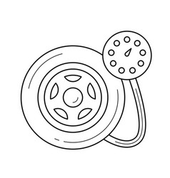 tire pressure line icon vector image