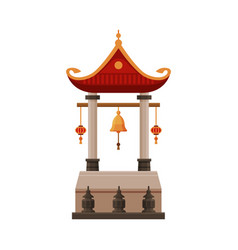 Traditional chinese building cultural asian vector