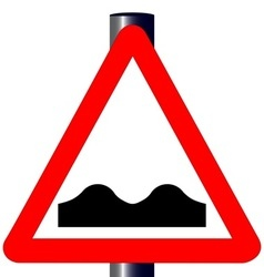Uneven roadtraffic sign vector