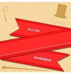 Vintage club invitation vector