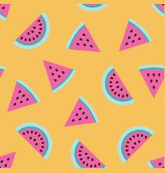 Watermelon pink fruit pattern background vector