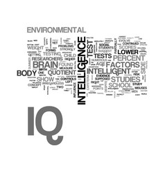 What is iq text word cloud concept vector
