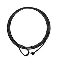 Wild west lasso rope circle frame Black vector
