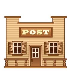 Wild West Post office vector