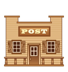 Wild West Post office vector image