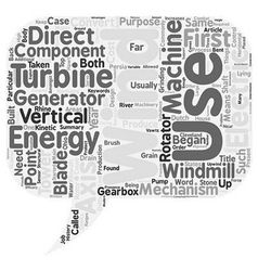 Wind Turbines text background wordcloud concept vector