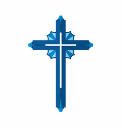 cross of the lord and savior jesus christ vector image vector image