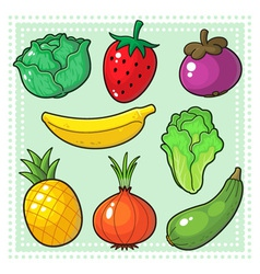 Fruits and Vegetables 03 vector image
