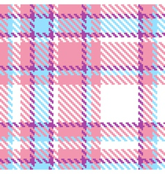Seamless plaid fabric pattern background vector image vector image