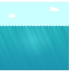 Underwater scene deep under vector image