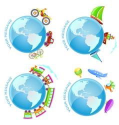 Voyage around the world vector