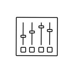equalizer settings icon vector image