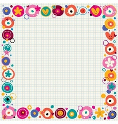 flowers hearts border vector image vector image